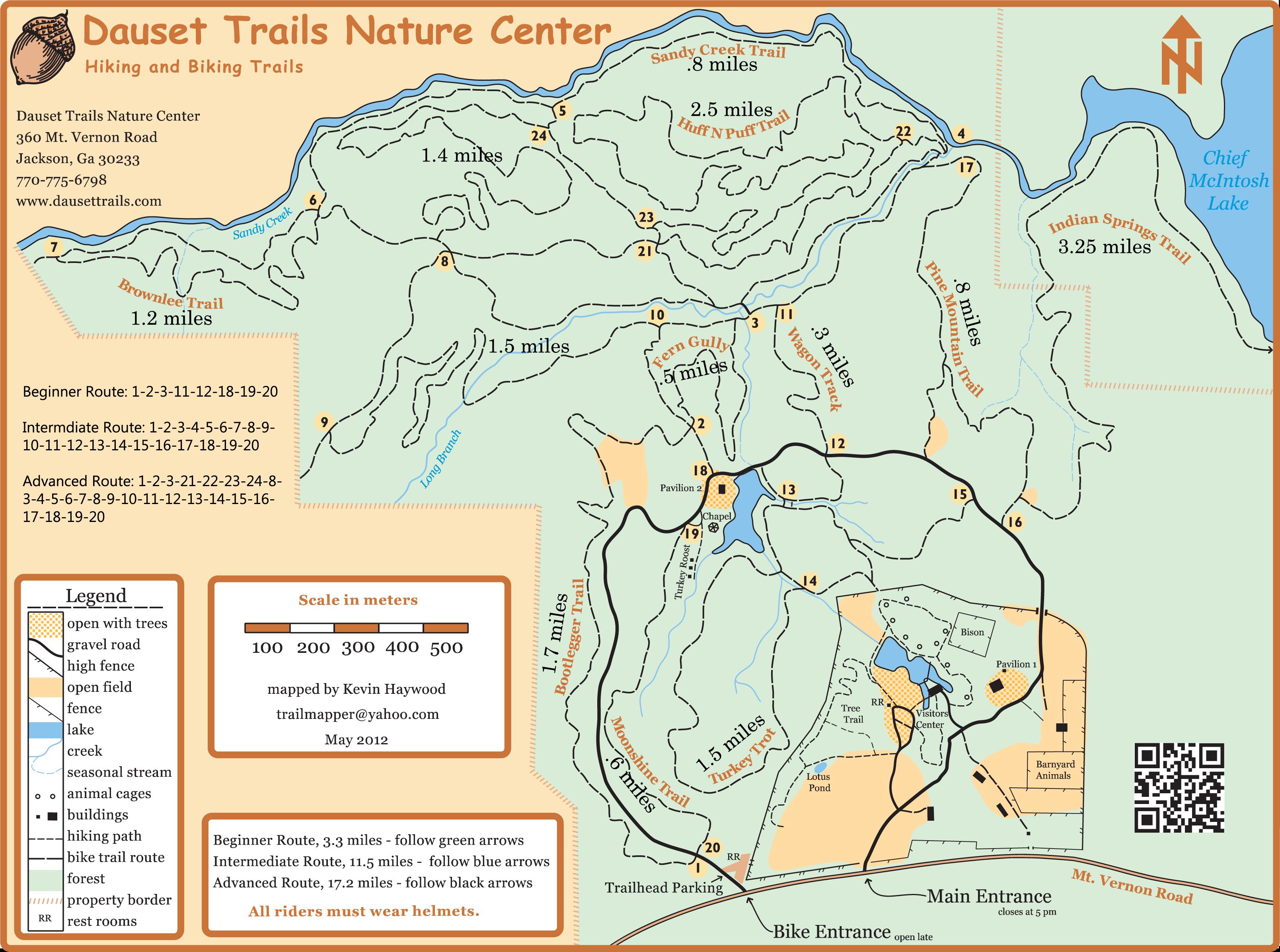 bike map distances